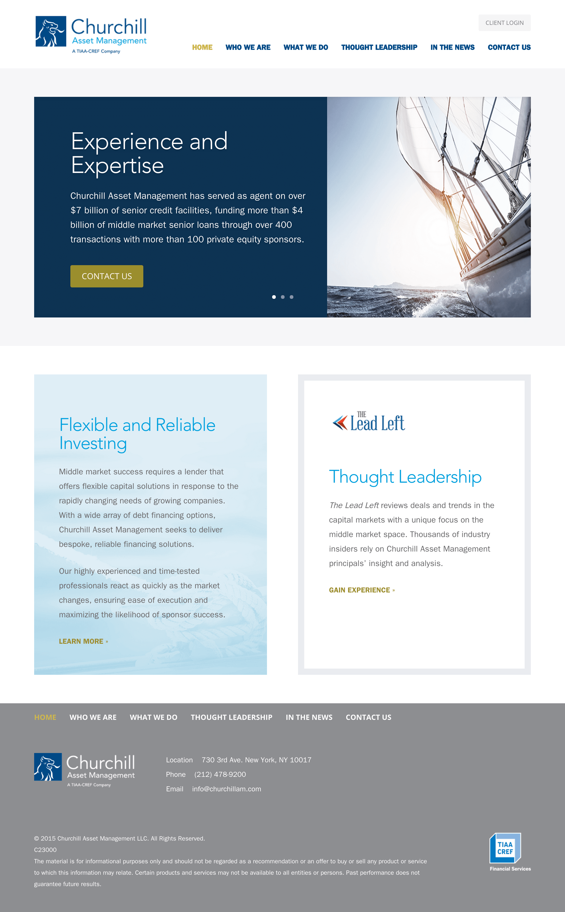 Churchill Asset Management home page