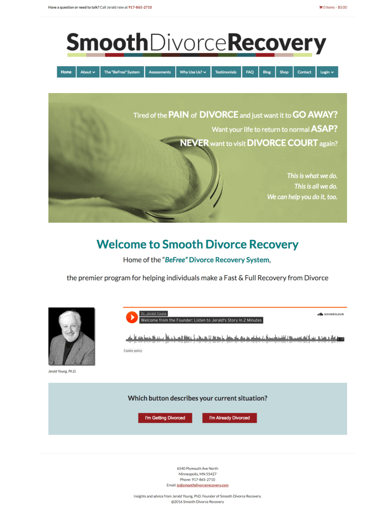 Smooth Divorce Recovery home page